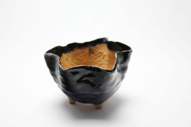 万作生子花形,4号,信楽焼,植木鉢,盆栽鉢