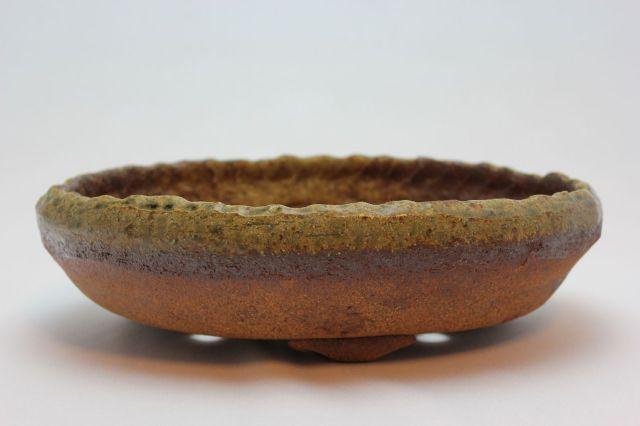 ひねり小判足付,9号,信楽焼,植木鉢,盆栽鉢