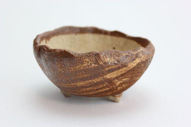 茶中浅ちぎり丸,3号,信楽焼,植木鉢,盆栽鉢