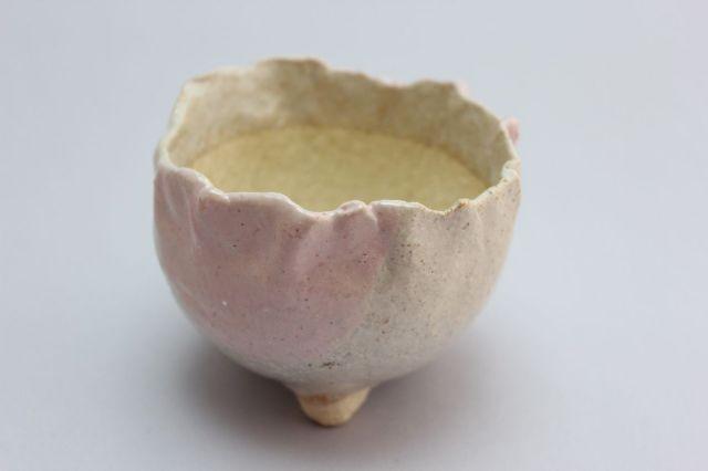 万作桃つぼみ型,3号,信楽焼,植木鉢,盆栽鉢