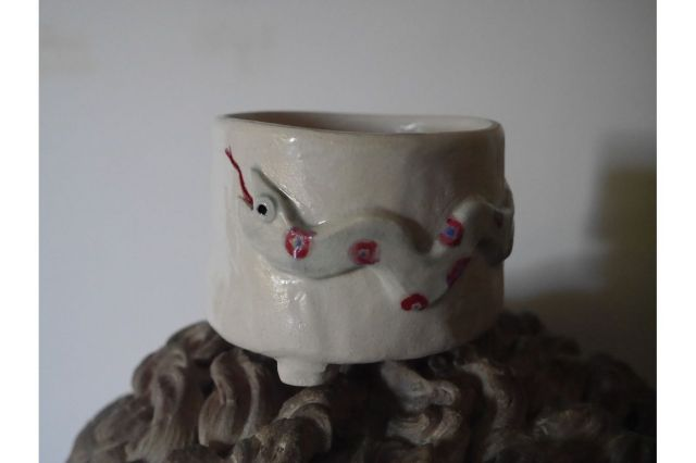Koyomi作,へび,3号,ミニ盆栽,植木鉢