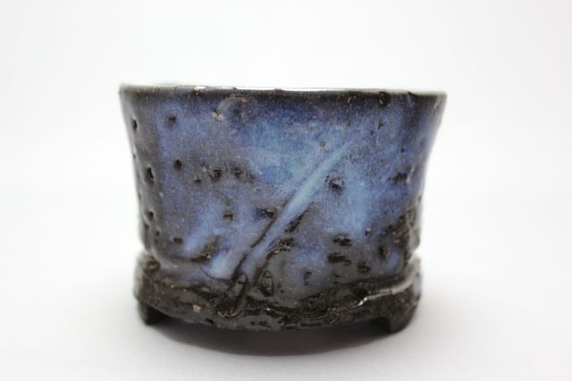 和田桂子作,マーキュリー・シャインアクア・イリュージョン,4号,ミニ盆栽,植木鉢