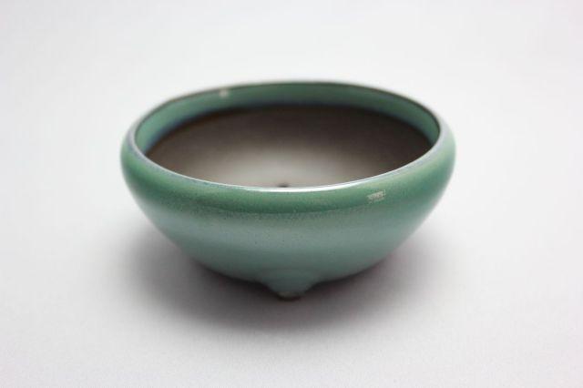 織部丸鉄鉢,3号,瀬戸焼,植木鉢,盆栽鉢