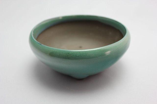 織部丸鉄鉢,4号,瀬戸焼,植木鉢,盆栽鉢