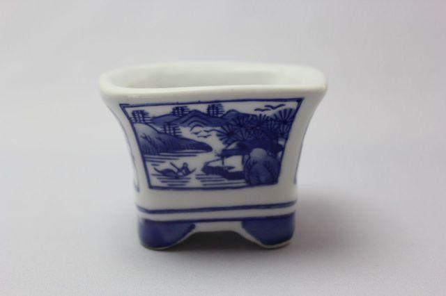 江戸風景,3号,瀬戸焼,植木鉢,盆栽鉢