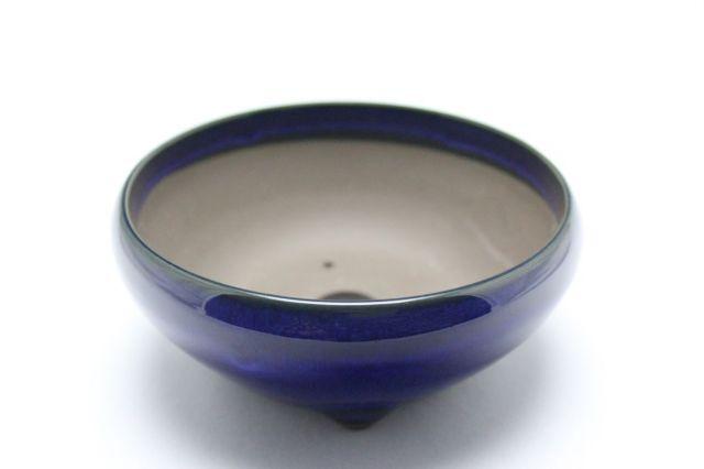 生子丸鉄鉢,4号,瀬戸焼,植木鉢,盆栽鉢