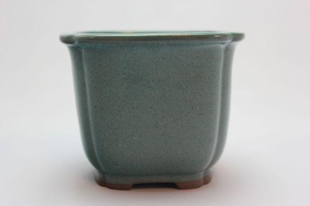 正方隅入,織部,3.5号,瀬戸焼,植木鉢