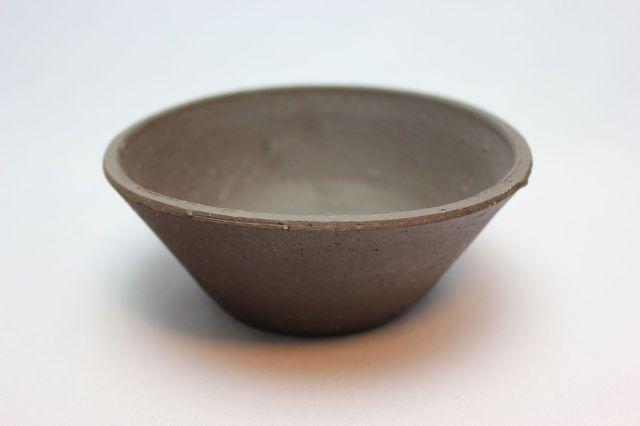 ウデ荒土そり丸,4号,常滑焼,植木鉢,盆栽鉢