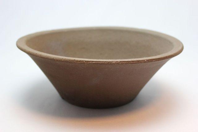 ウデ荒土そり丸,7号,常滑焼,植木鉢,盆栽鉢