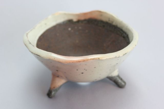 誠山,ソリ足付,4号,常滑焼,植木鉢