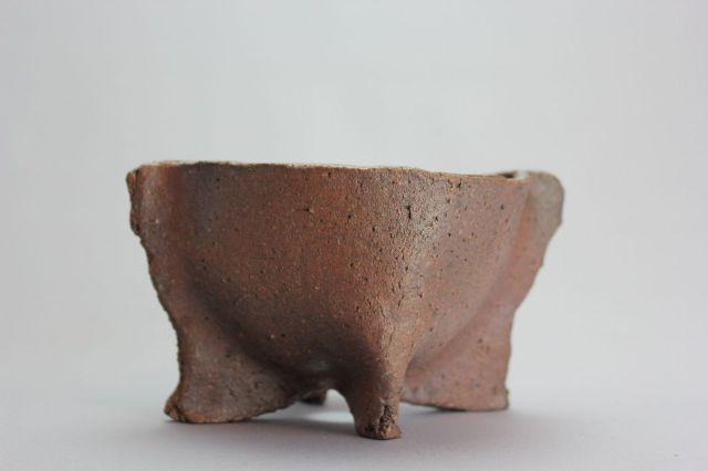 誠山,足つまみ鉢,4号,常滑焼,植木鉢