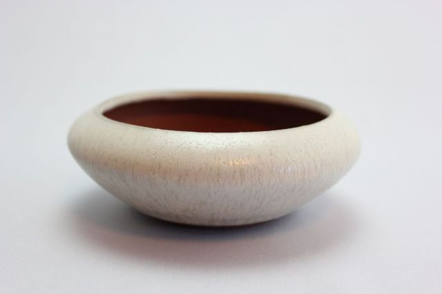 燿山丸鉄鉢,4号,常滑焼,植木鉢,盆栽鉢