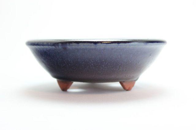 燿山生子丸陣笠足付,5号,常滑焼,植木鉢,盆栽鉢