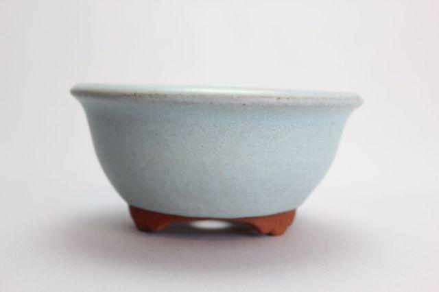 燿山均窯丸深陣笠足付,4号,常滑焼,植木鉢,盆栽鉢