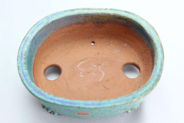 秀峰,小判雲足青,4.5号,常滑焼,植木鉢