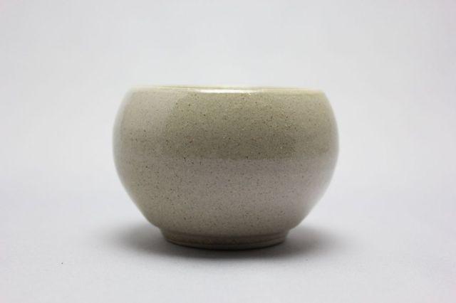丸球鉢,白砂,萬古焼,植木鉢,盆栽鉢