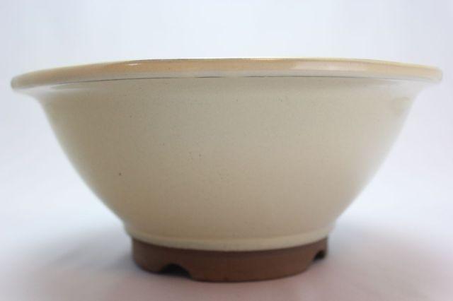 すり鉢,クリーム,8号,萬古焼,植木鉢