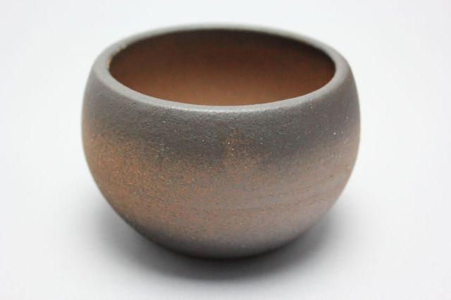 丸球鉢,黒吹,萬古焼,植木鉢,盆栽鉢