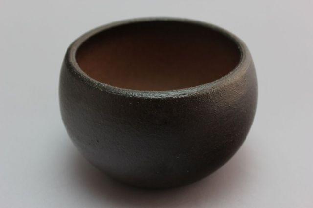 丸球鉢,墨釉,3号,萬古焼,植木鉢