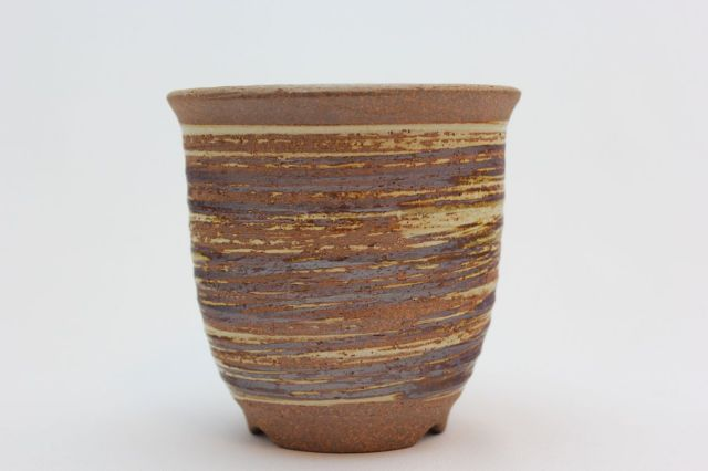 雪割草鉢,刷毛目,3.5号,萬古焼,植木鉢