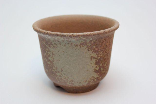 えびね鉢,荒泥吹,4号,萬古焼,植木鉢