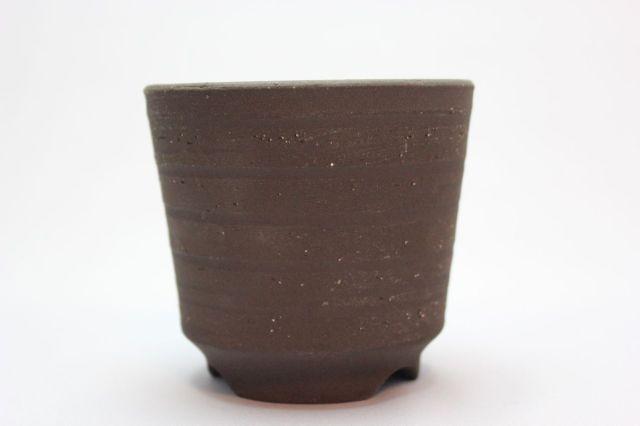 丸,荒土,3号,萬古焼,植木鉢