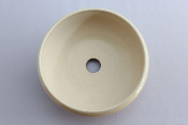 鉄鉢,クリーム,5号,萬古焼,植木鉢