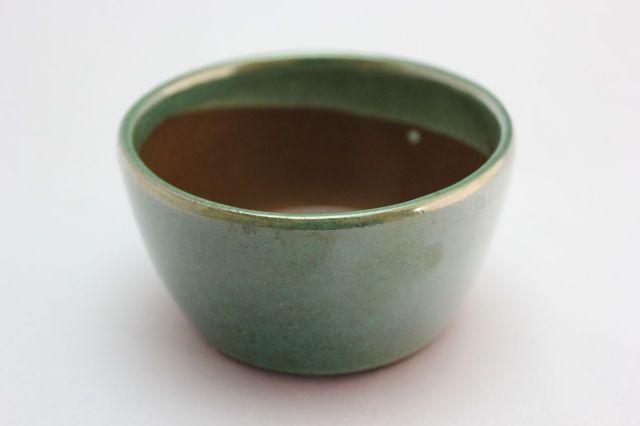 丸切立織部,3号,萬古焼,植木鉢,盆栽鉢