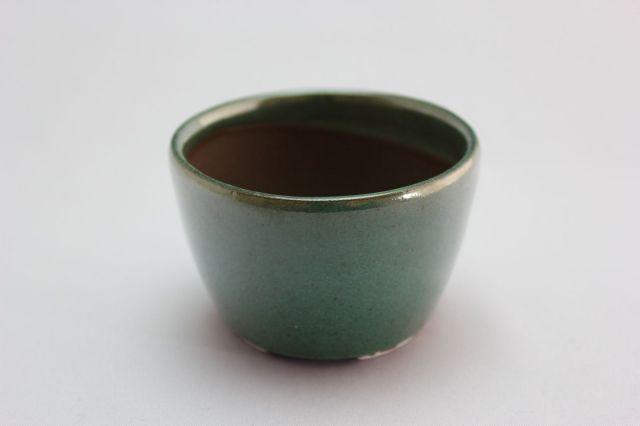 丸切立織部,2.5号,萬古焼,植木鉢,盆栽鉢