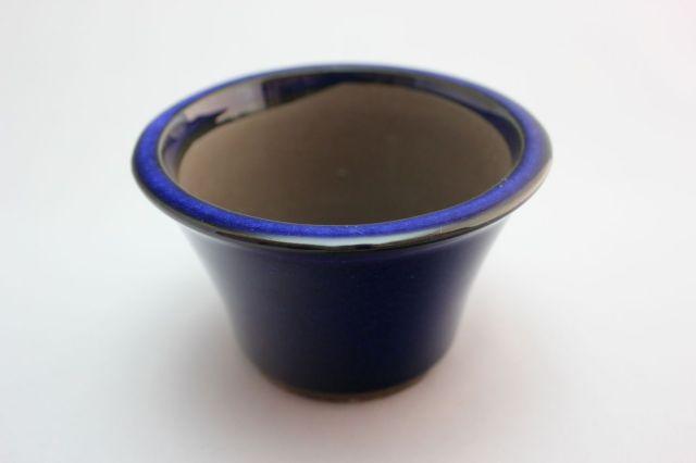 ウデ中深そり焼締,4号,萬古焼,植木鉢,盆栽鉢
