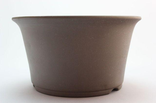 ウデ中深そり焼締,5号,萬古焼,植木鉢,盆栽鉢