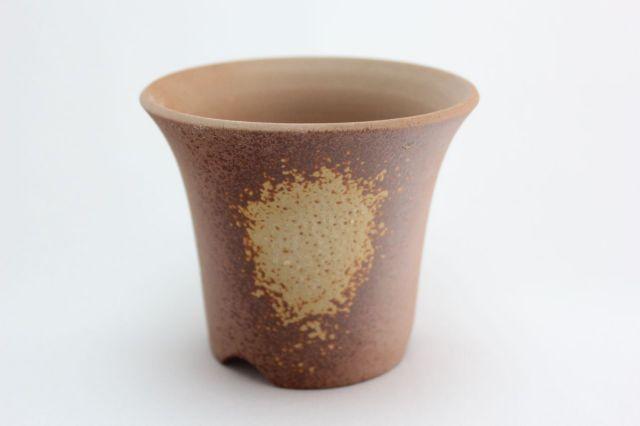 吹丸ソリ形,3.5号,萬古焼,植木鉢,盆栽鉢