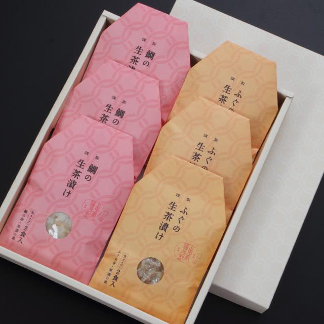 ふぐの生茶漬け・鯛の生茶漬け詰合せ (2食×3/2食×3)