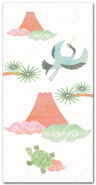 赤富士鶴亀