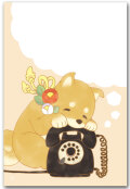 黒電話と柴犬