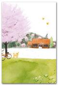 小学校と桜の木