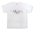 友禅模様の華柄イラストTシャツ「花水木」商品画像