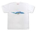 友禅模様の華柄イラストTシャツ「おしどり」商品画像