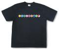 和柄Tシャツ「家紋づくし・漆黒の壱」