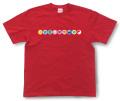 和柄Tシャツ「家紋づくし・紅の壱」