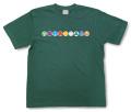 和柄Tシャツ「家紋づくし・緑の壱」