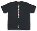 和柄Tシャツ「家紋づくし・漆黒の弐」