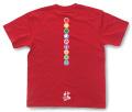 和柄Tシャツ「家紋づくし・紅の弐」