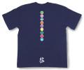 和柄Tシャツ「家紋づくし・紺の弐」