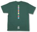 和柄Tシャツ「家紋づくし・緑の弐」