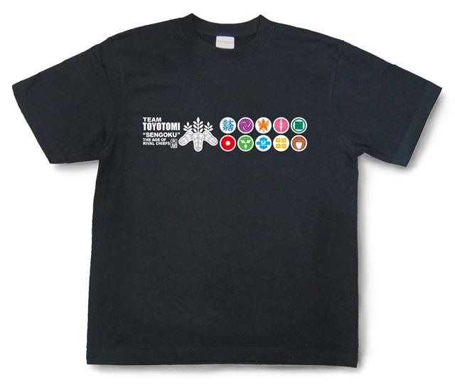 戦国武将Tシャツ・豊臣軍団「TEAM TOYOTOMI」(漆黒)