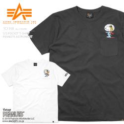 1d65064e05dcd ALPHA アルファ TC1358 クルーネック 半袖 ポケットTシャツ PEANUTS ...