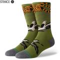 【メーカー取次】STANCE スタンス BIG CAT CREW ソックス GREEN M548A20BCC#GRN 靴下