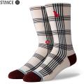 【メーカー取次】STANCE スタンス RAT PLAID ソックス WHITE M558A20PAT#WHT 靴下