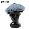 ☆ただいま20%割引中☆【即日出荷対応】New York Hat ニューヨークハット 6298 ヒッコリー Newsboy キャスケット